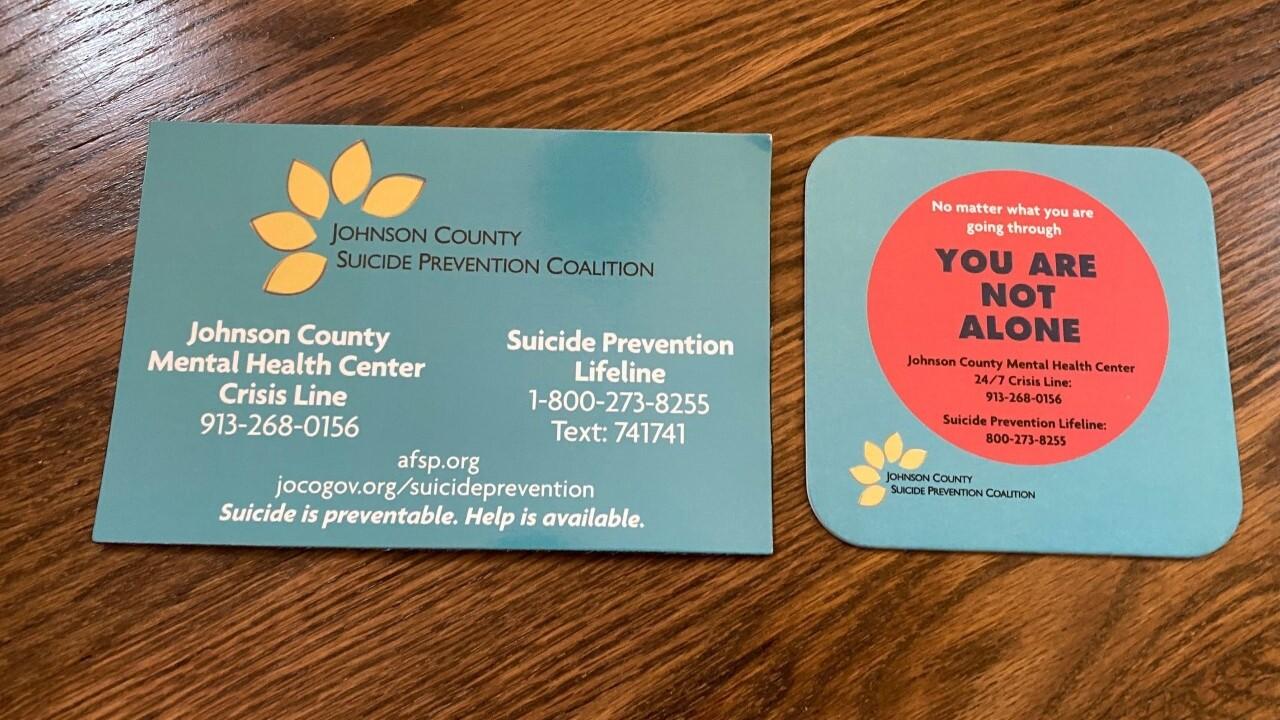 Suicide hotline coasters