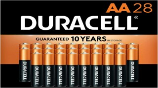 Get a 28-pack of Duracell AA batteries for just $9 right now on Amazon