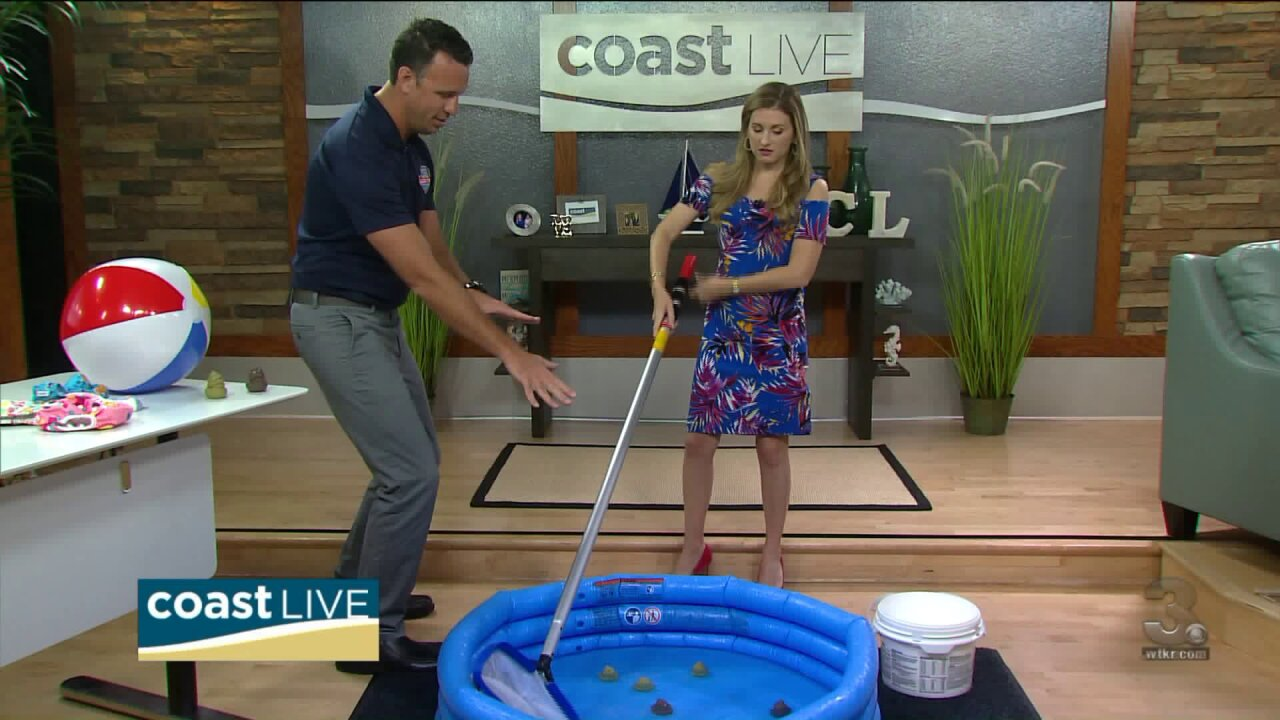 "Tips for cleaning up the pool after an ""accident"" on Coast Live"