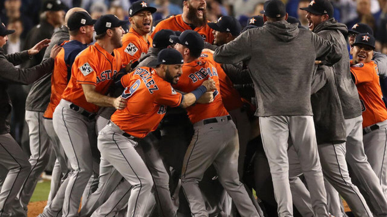 World Series 2017: Astros beat Dodgers for first title