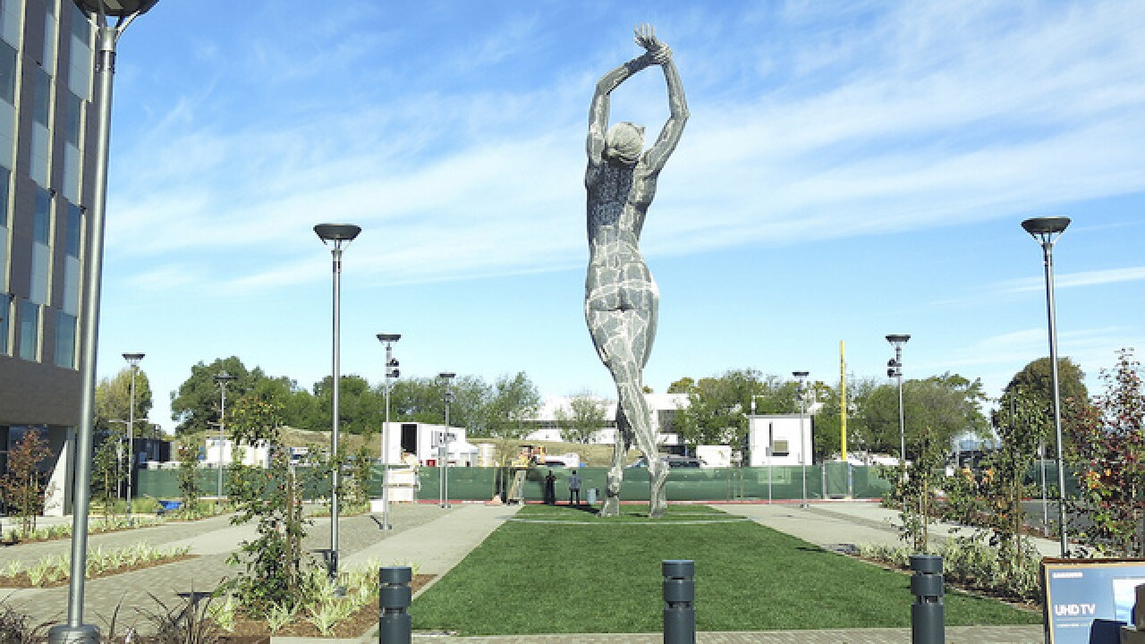 Giant nude woman statue in California alarms some residents