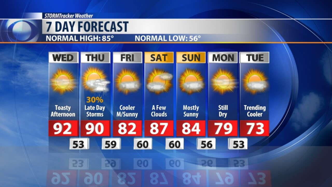 7 DAY FORECAST AUGUST 21, 2019