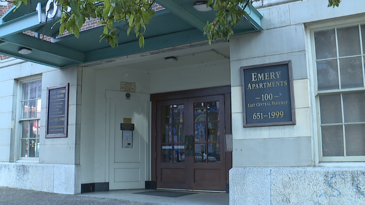 The Emery Center entrance