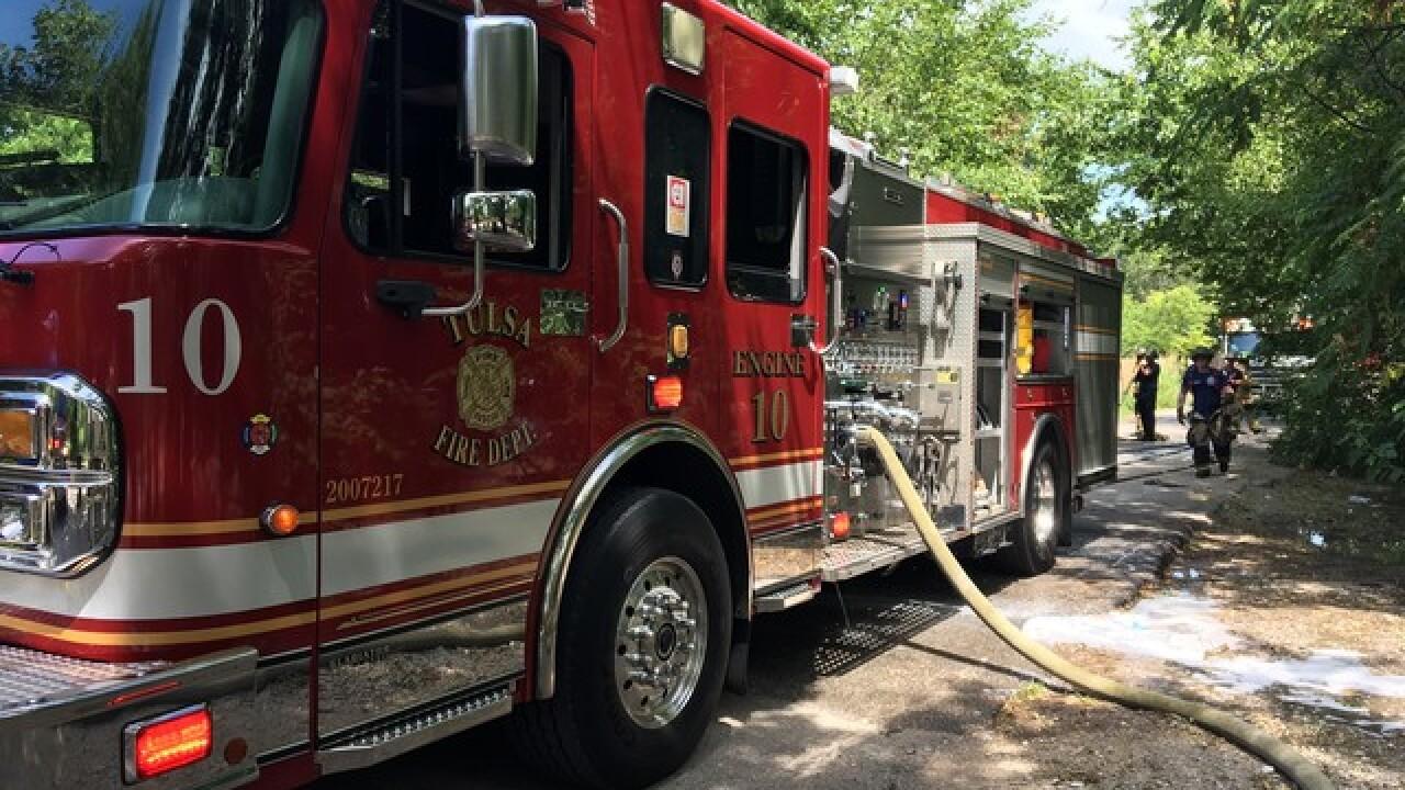Crews respond to house fire in northwest Tulsa