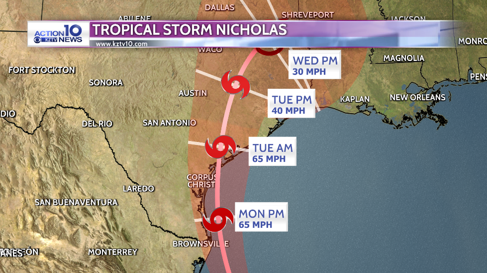 Nicholas Forecast Path 5p.PNG