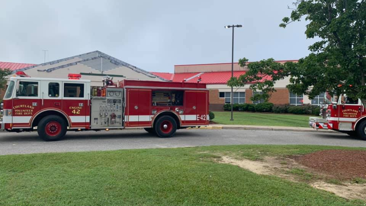 Crews respond to fire at Southampton High School