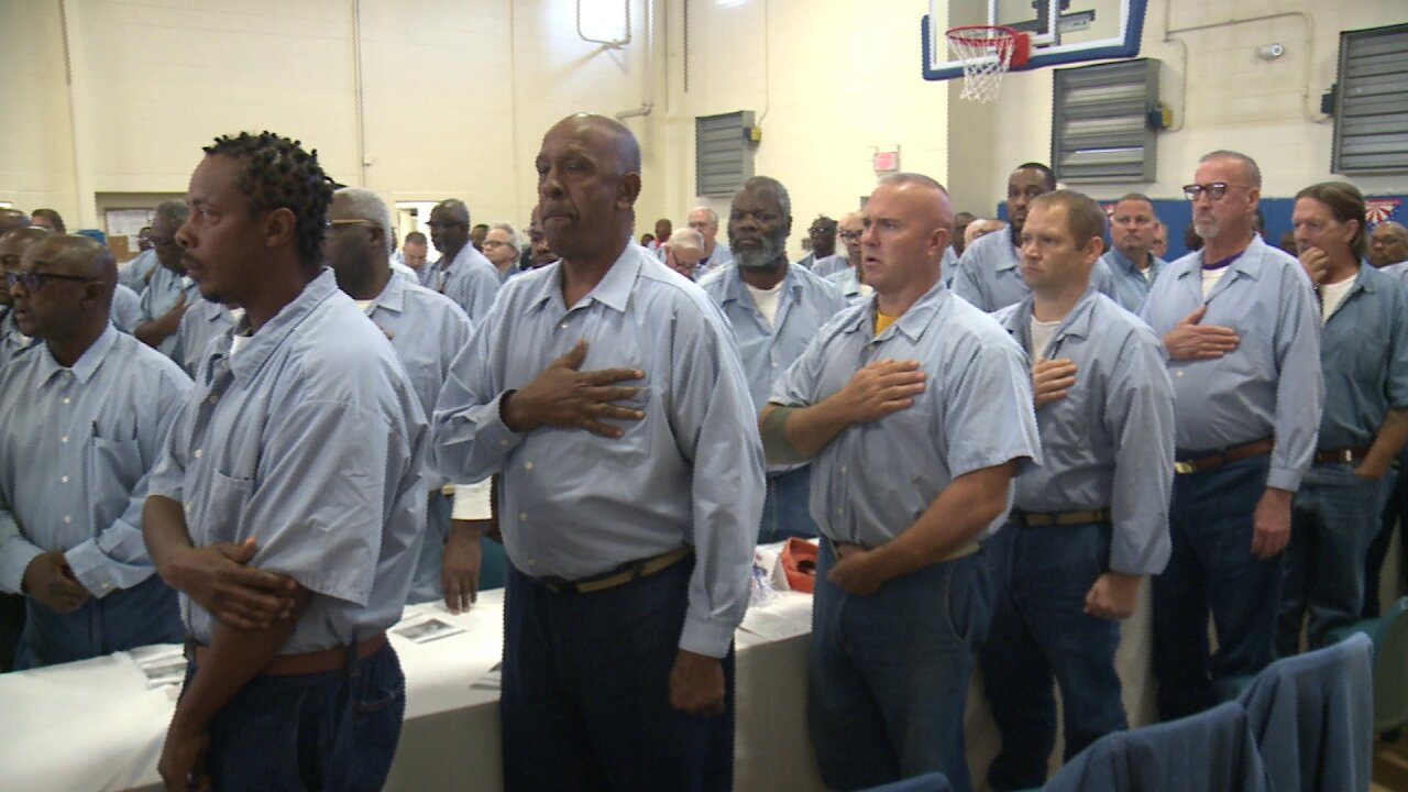 Local correctional center honors incarcerated veterans behind prison walls