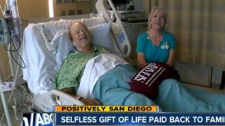 Selfless gift of life paid back to San Diego family