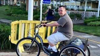 Virginia Beach firefighters take action to get man with Down syndrome a new bike after it was stolen
