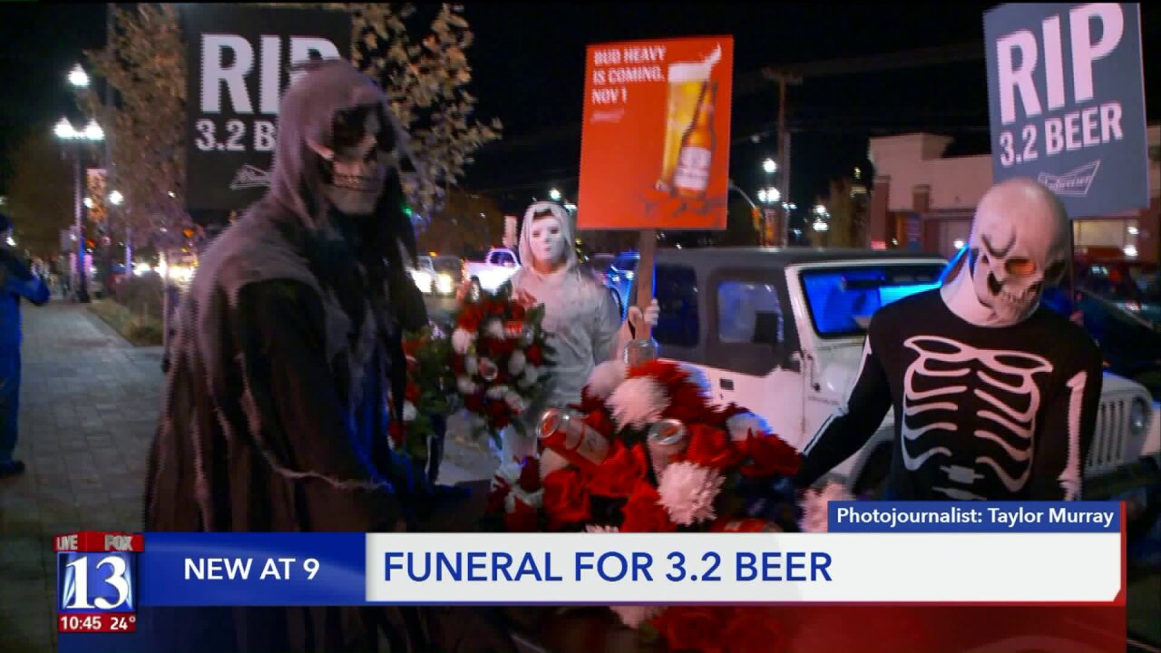 Funeral procession held in SLC for 3.2 percentbeer