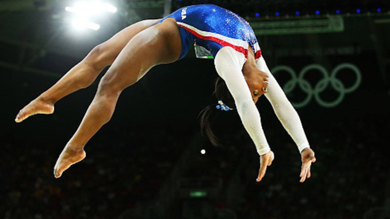 Simone Biles takes all-around individual gold medal
