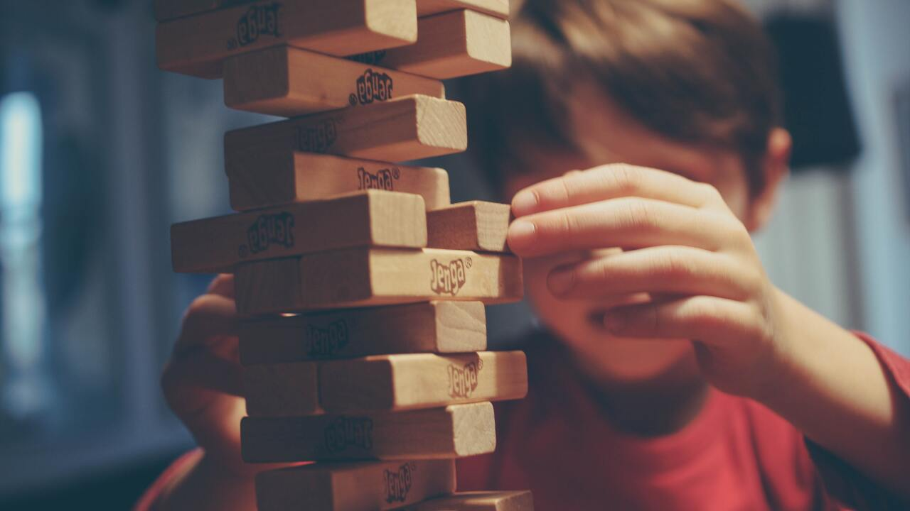 File image of a boy playing a game.