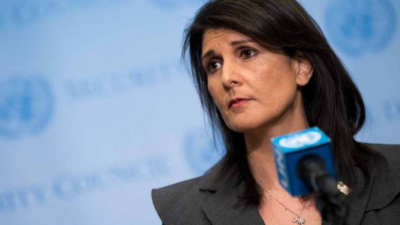 Nikki Haley says more sanctions against Russia coming Monday