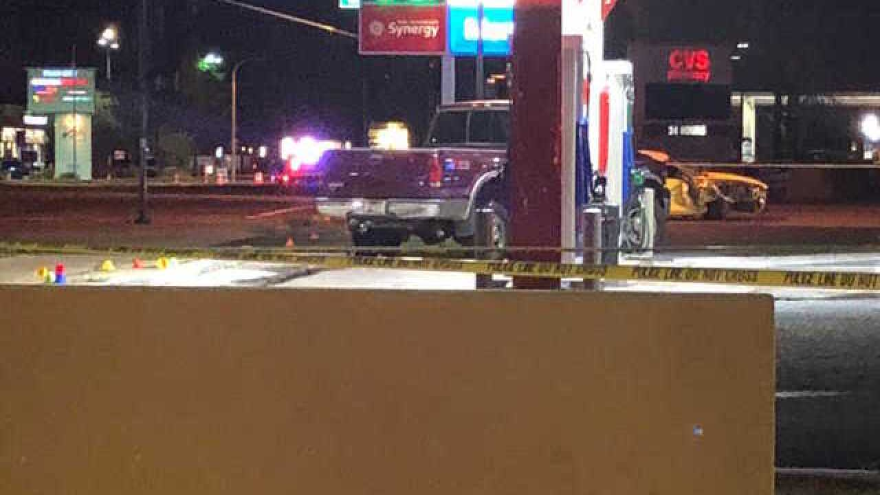 PD: Man hit by car at gas station, 2 others hurt