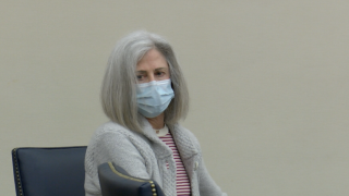 Patricia Berliner in court on April 30, 2020