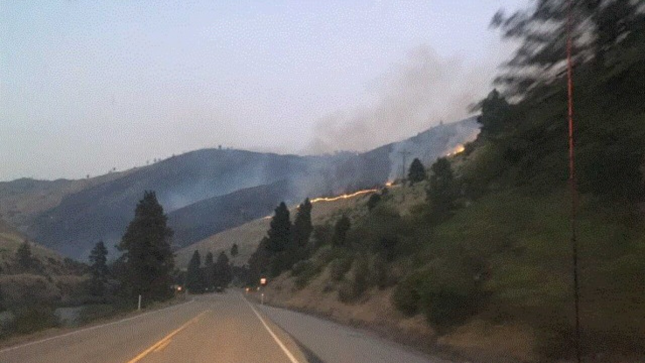 Highway 55 fire still burns, but highway now fully open