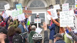 More than 200 gather for climate-strike rally in Helena, including candidates