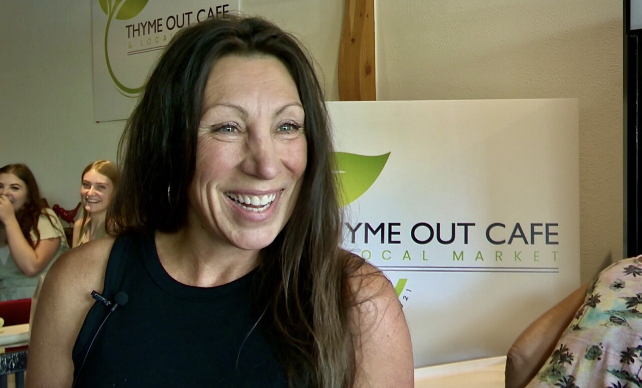 Thyme Out Cafe and Local Market owner Kim Agnew