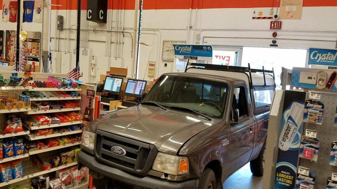 Man intentionally drives truck into Home Depot