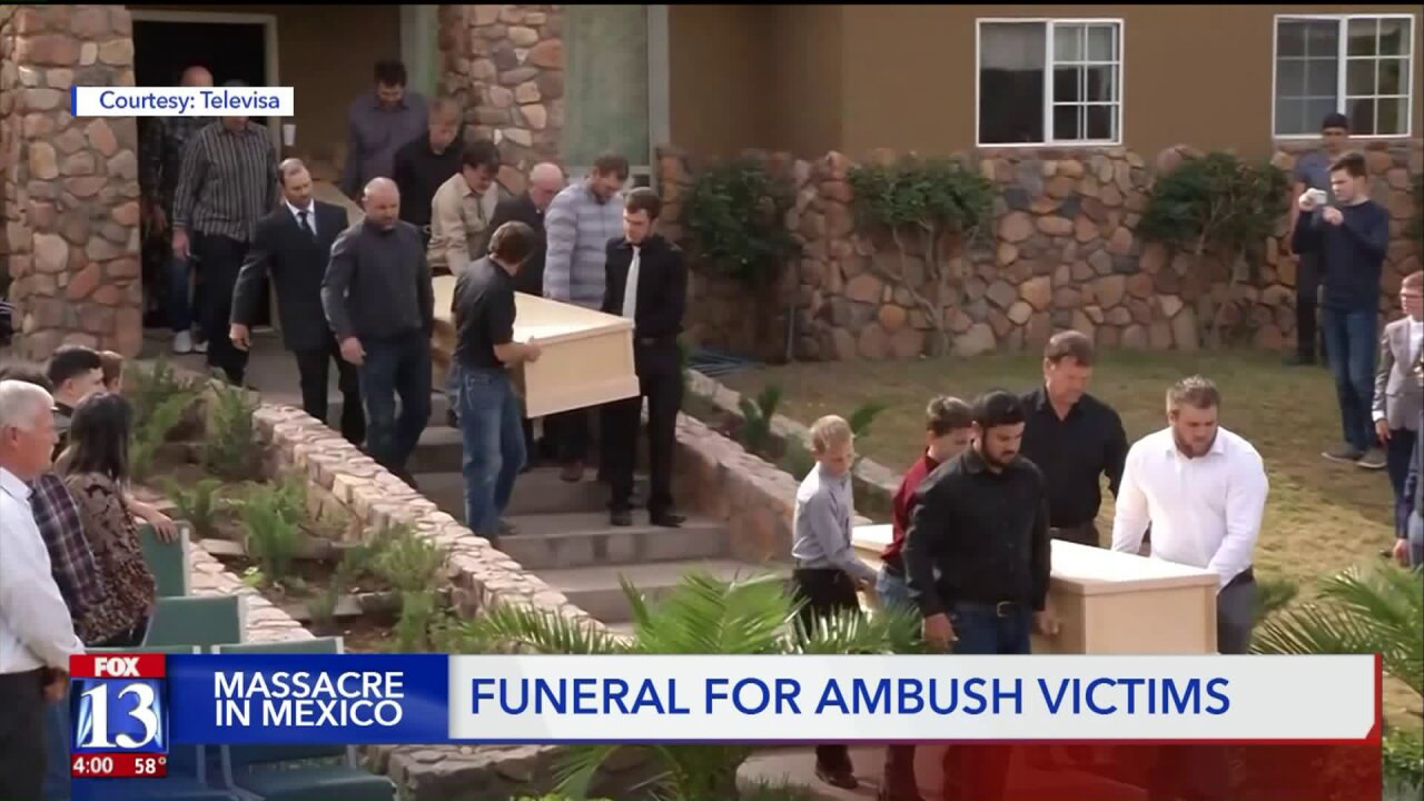 Funeral services held for three of the victims of the deadly ambush in Mexico