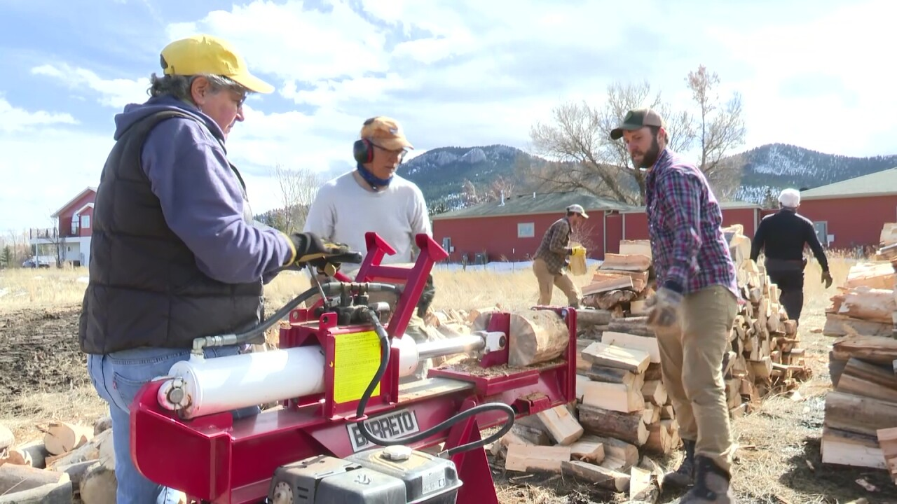 Prickly Pear Land Trust gathers volunteers to chop wood for those in need