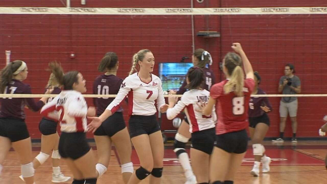 Cajuns Volleyball Overpowers GA Southern in Sweep