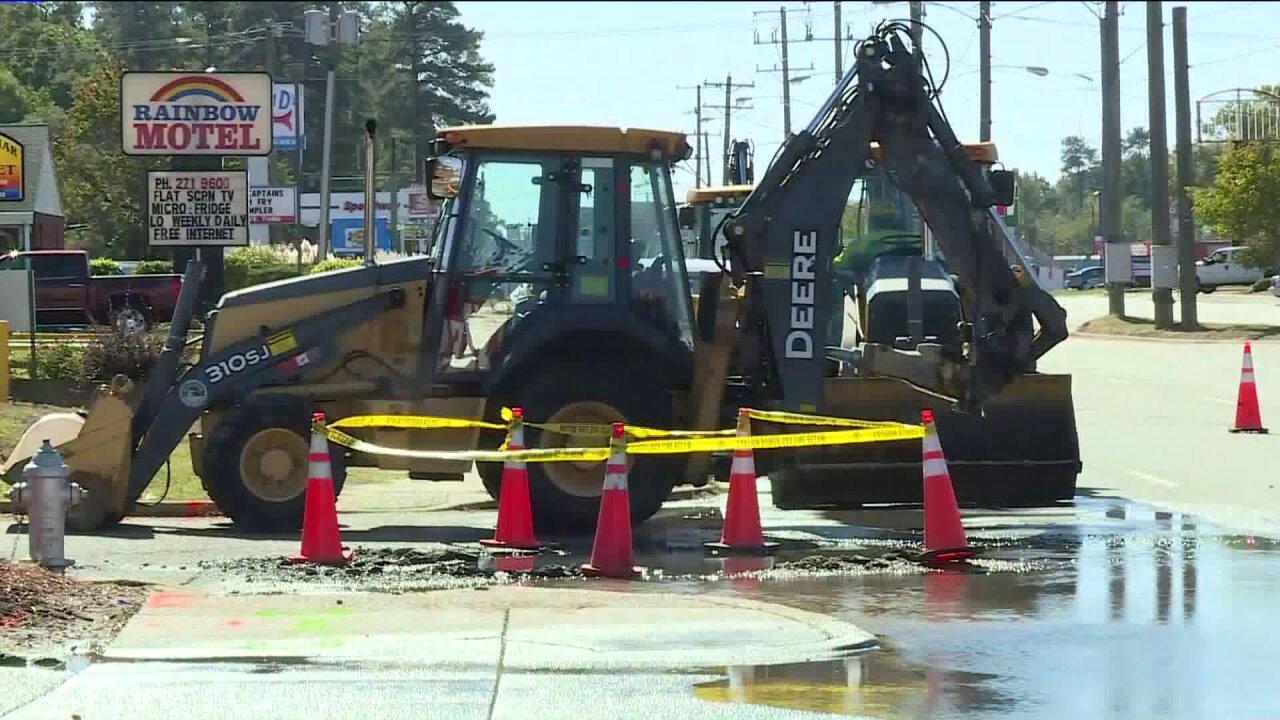 Water main break closes fast-food restaurants along Jefferson DavisHighway