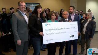 AT&T donates $25,000 to Pueblo D60