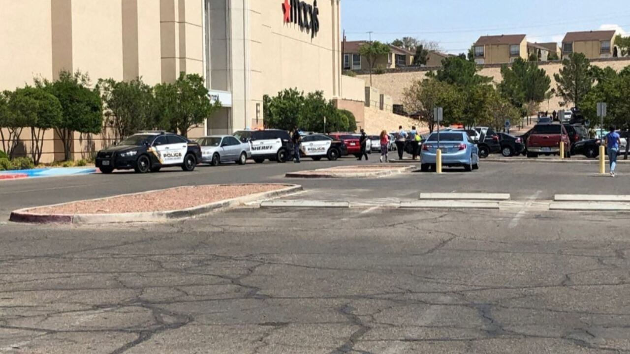 Police outside El Paso mall