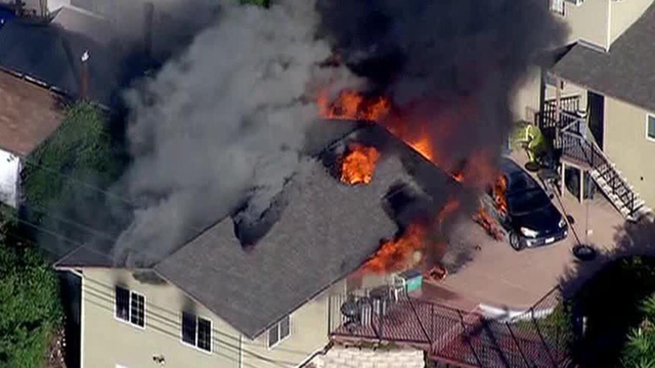 Fire destroys garage in El Cajon