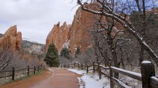 Carol McCallister garden of the gods with snow