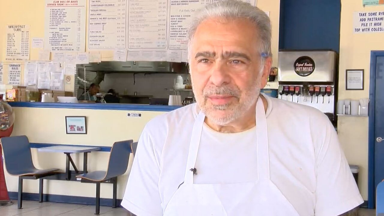 John Tarantino, owner of Sandwich Man and Pizza Too shop in Delray Beach