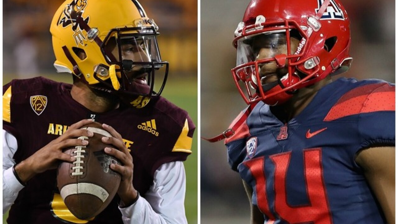 480714e89 Ain't no scam': ASU, UA quarterbacks exchange comments on Twitter