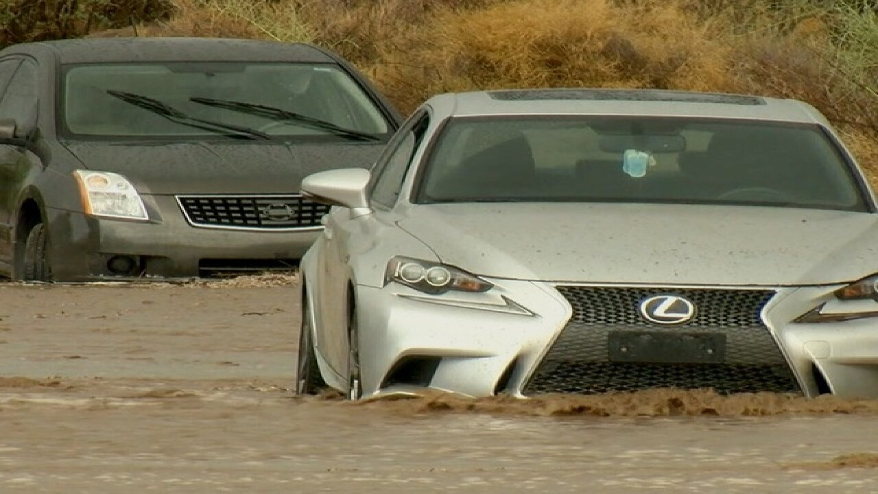 Storms flood roadways, prompt water rescues