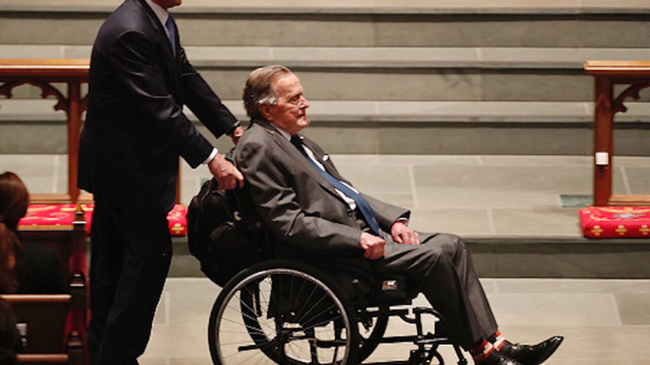 President George H.W. Bush moved out of the ICU