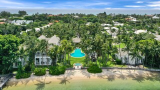 Bird's eye view of Sylvester Stallone's new Palm Beach mansion