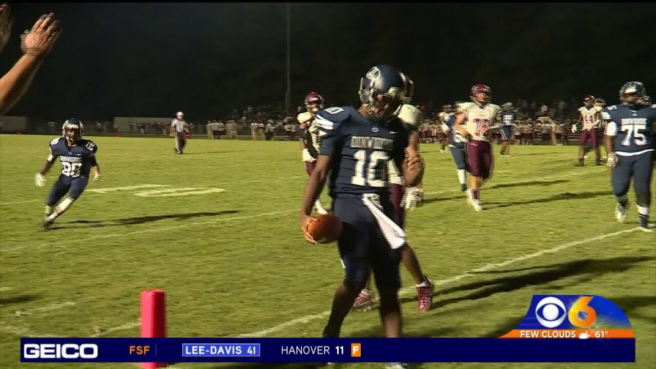 Dinwiddie posts shutout over Thomas Dale 28-0