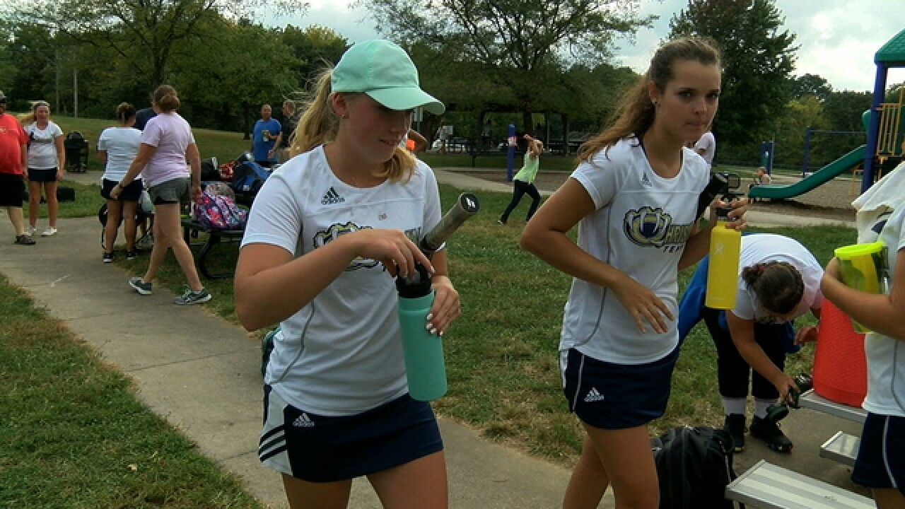 Chrisman's Ally Cook is a rising tennis star