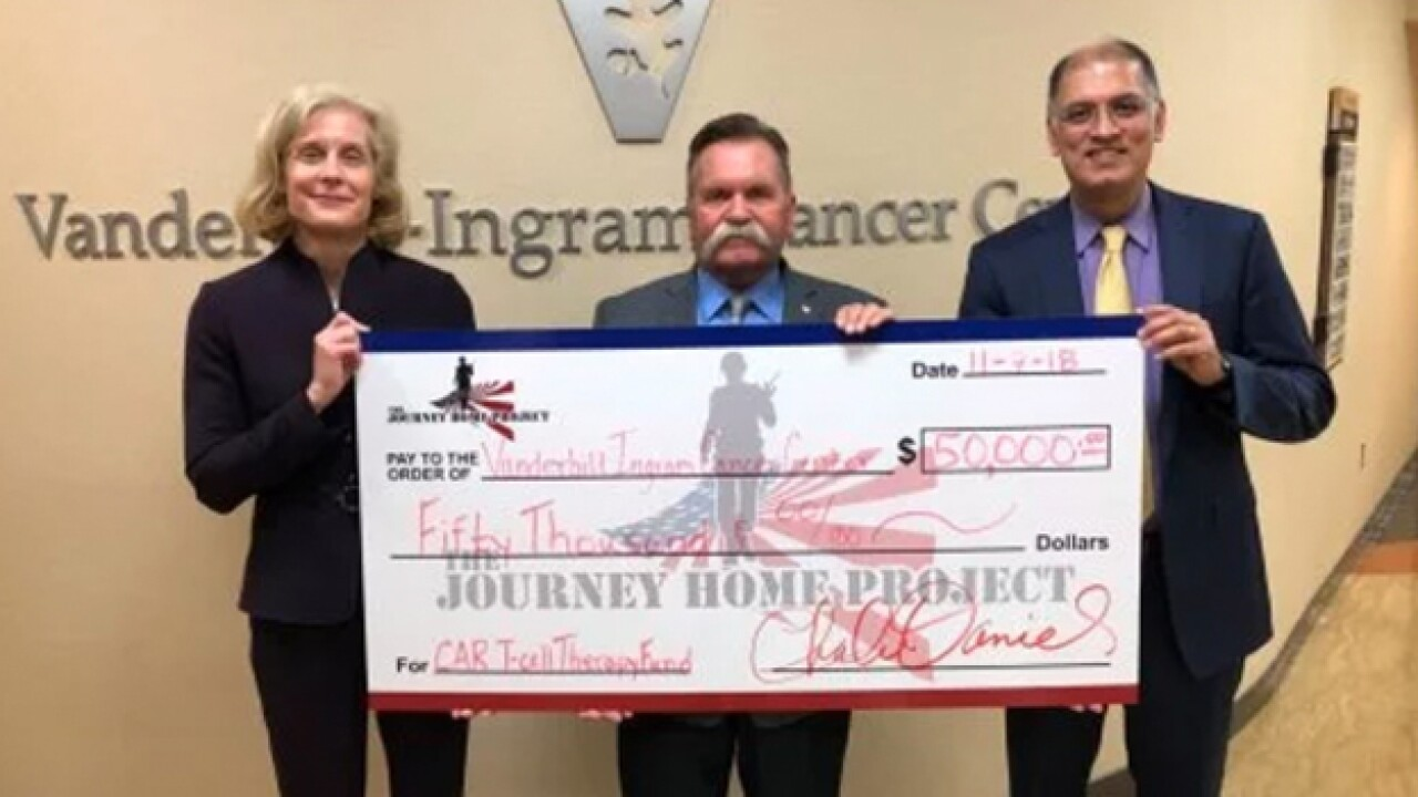 The Journey Home Project donates $50K to cancer center