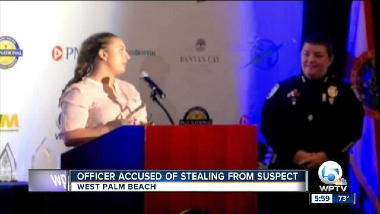 West Palm Beach officer arrested; accused of stealing cash from suspect