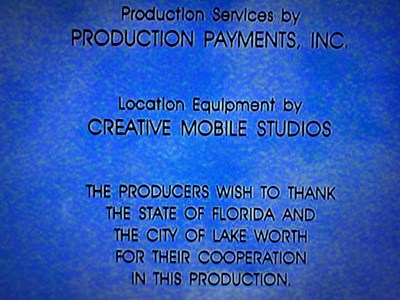 Lake Worth mentioned in credits to 'Body Heat'