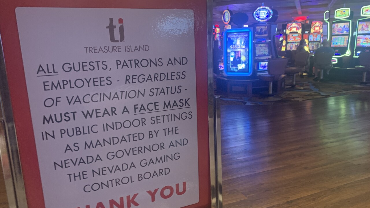 Return of mask mandate brings new signage, compliant guests to Las Vegas strip
