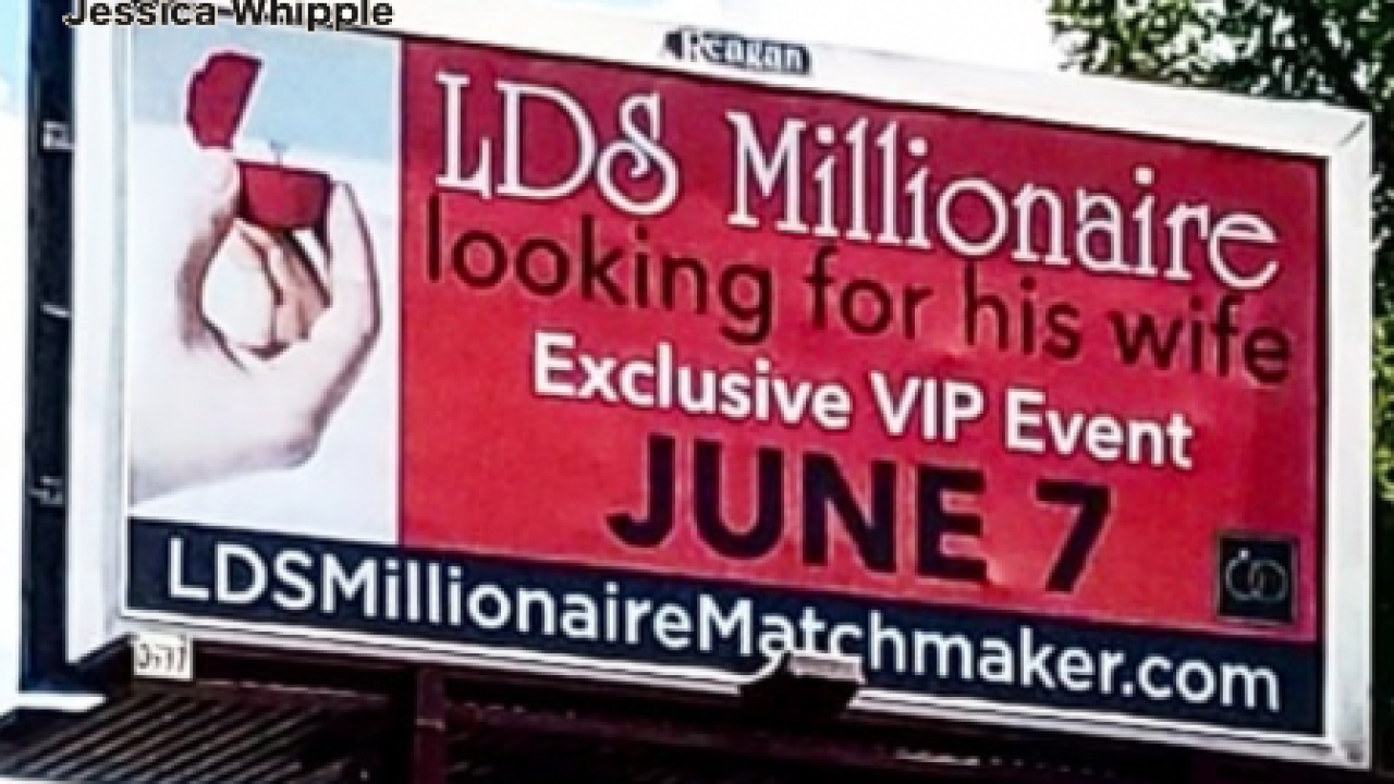 Mormon millionaire in Utah advertises quest for love on billboards