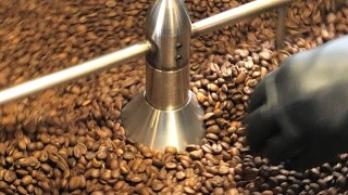 Cooling roasted coffee beans
