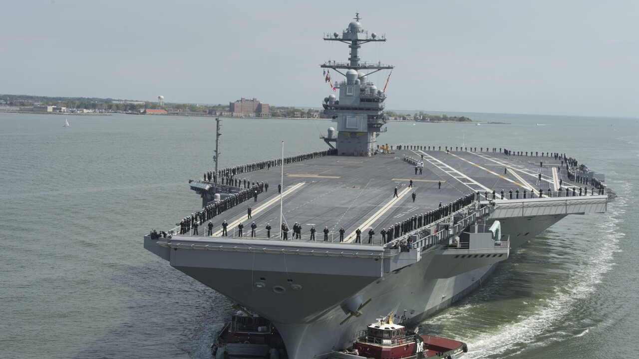 Navy's newest aircraft carrier commissioned as USS Gerald R.Ford