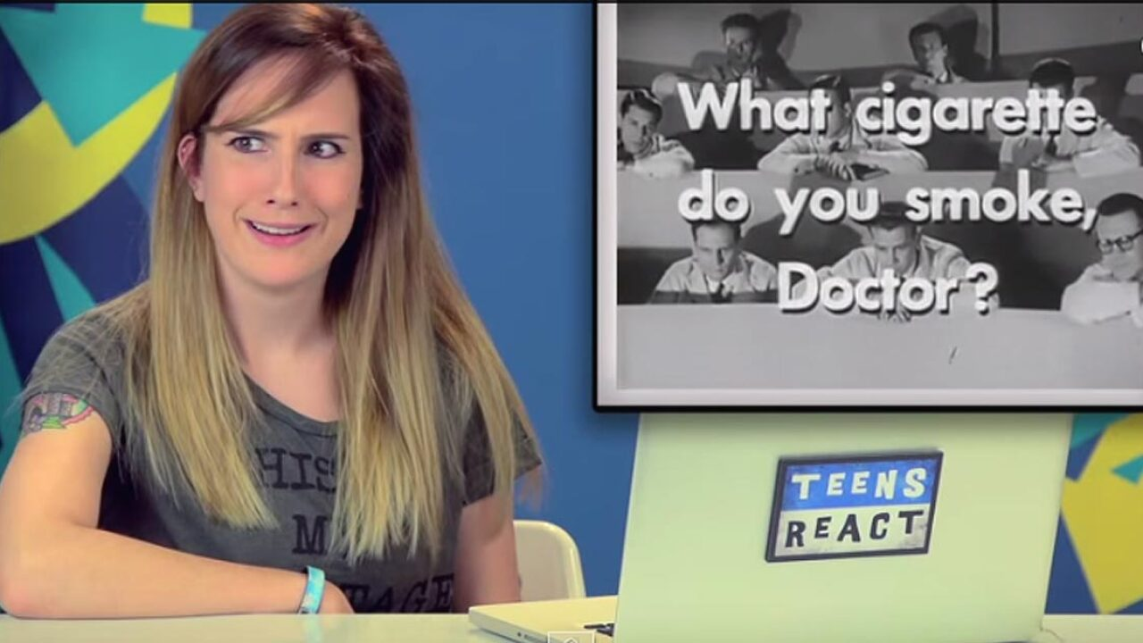 Teens react to old TV commercials for North Carolina-made cigarettes