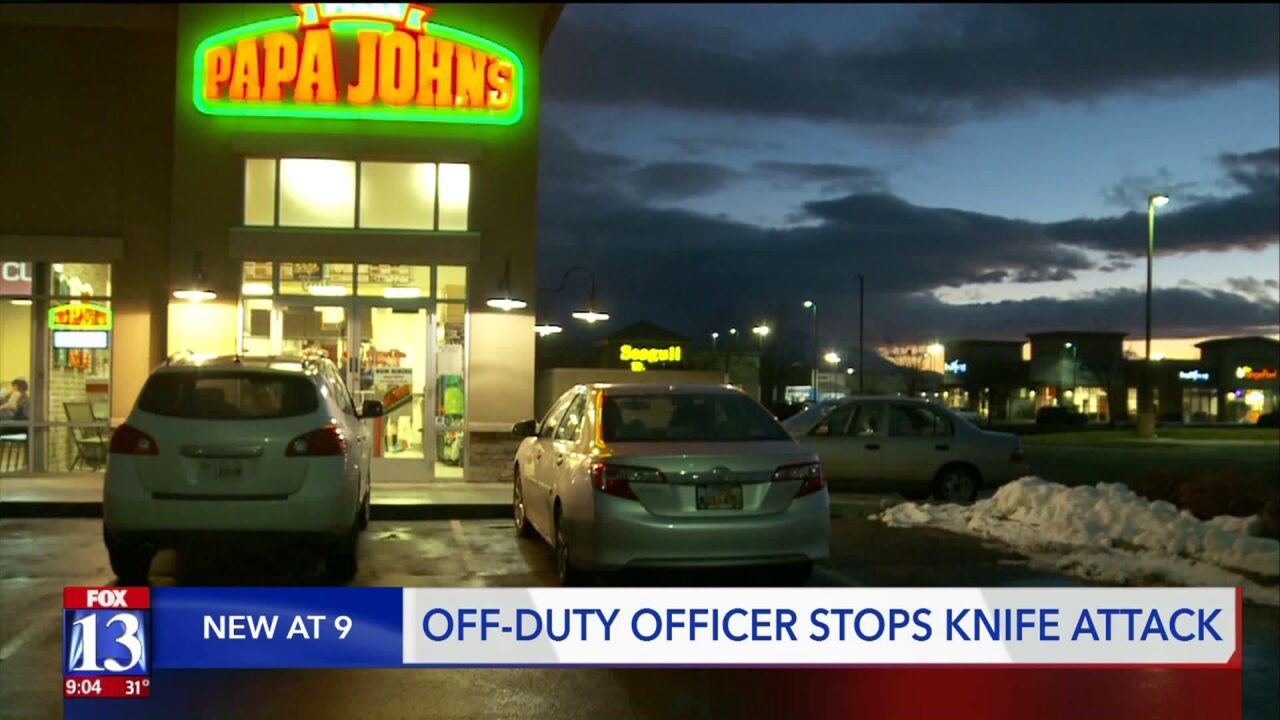 Off-duty corrections officer stops knife attack at pizza place in Springville