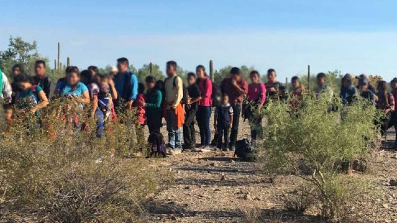 border agents find group of 163 immigrants in southern arizona desert