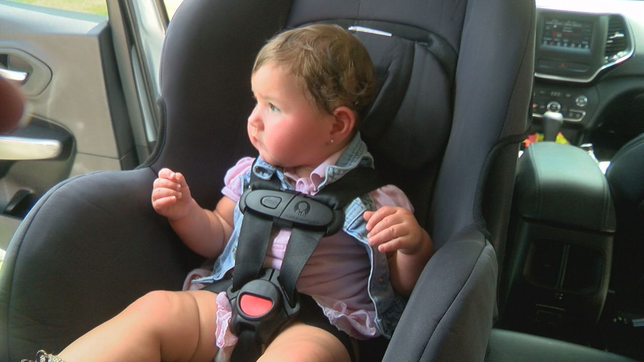 Child in seat correctly