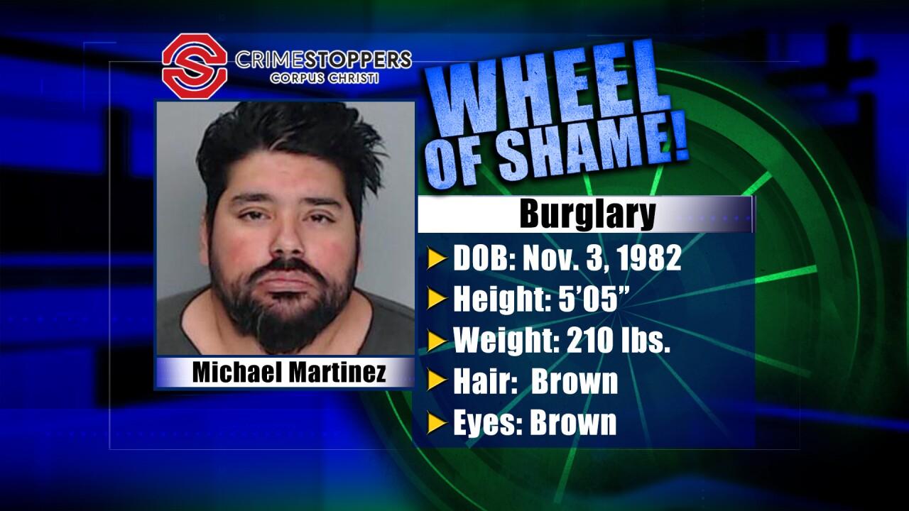 Wheel Of Shame Fugitive; Michael Martinez